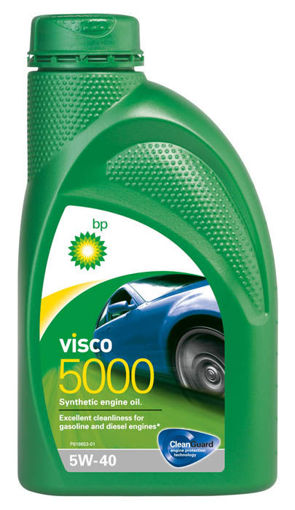 Изображение Моторное масло синтетическое BP Visco 5000 5W-40, 1л